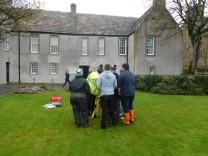 Pupils using the Total Station