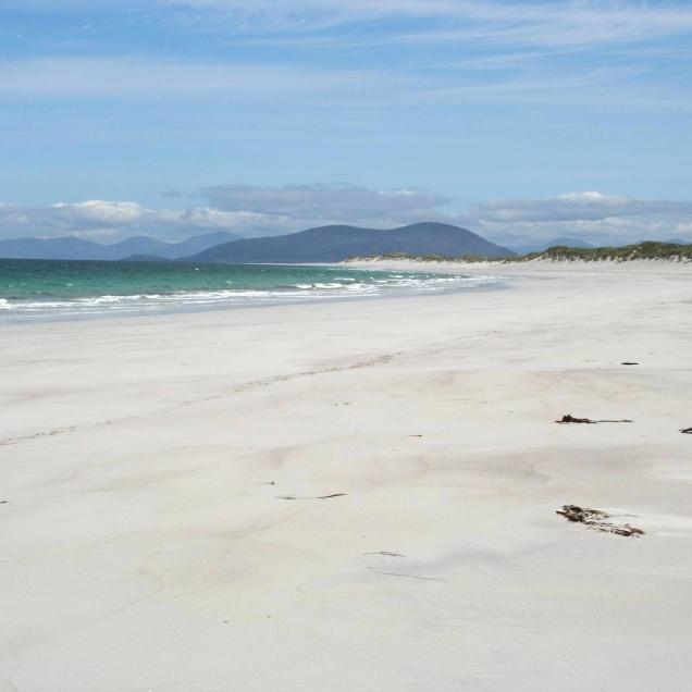 Gaelic awareness - Berneray beach / traigh Bhearnaraigh
