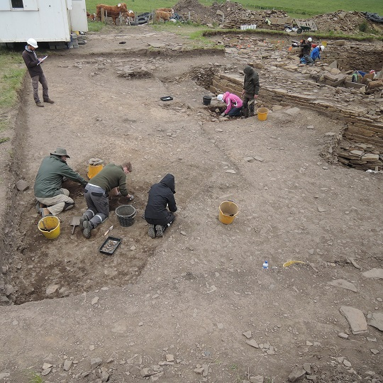 Excavating in the SW extension
