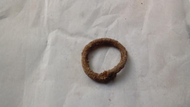 The bronze ring in close up