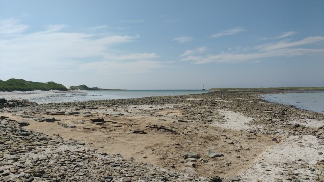 The Cata Sand site showing its proximity to the sea