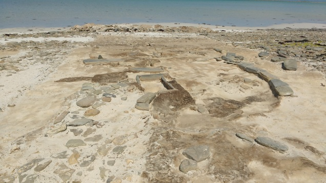 Structures emerging at Cata Sand, Sanday
